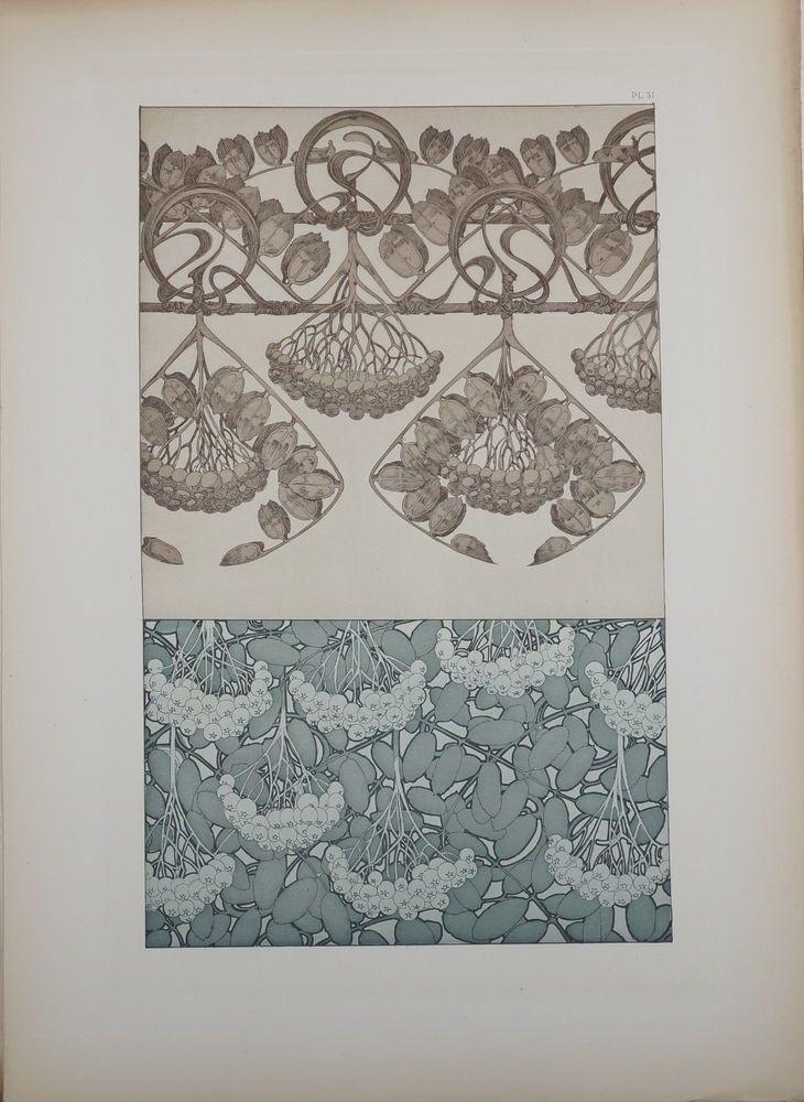 ALPHONSE MUCHA DOCUMENTS DÉCORATIFS ORIGINAL LITHOGRAPH 1902 ART NOUVEAU PL 31 #ArtNouveau