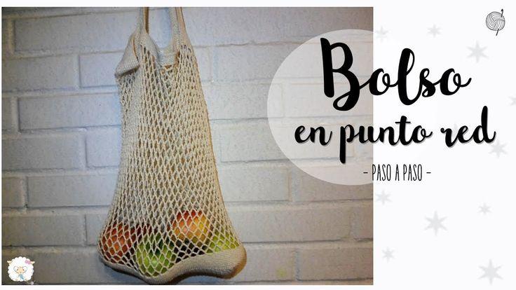 bolso en punto red o malla | crochet market bag