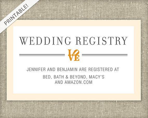 Wedding Invitation Registry Wording: 25+ Best Ideas About Bridal Shower Registry On Pinterest