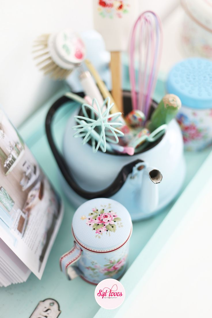 Syl loves pastels, kitchen, GreenGate, enamel