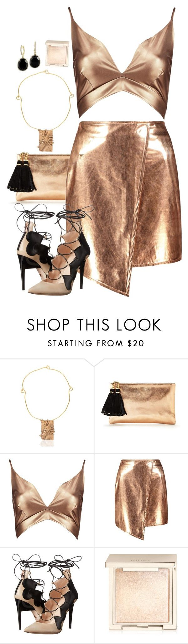 """Copper"" by seventeene ❤ liked on Polyvore featuring Maggie Maggi, Boohoo, Ruthie Davis, Jouer, Effy Jewelry, metallic, Bronze and copper"