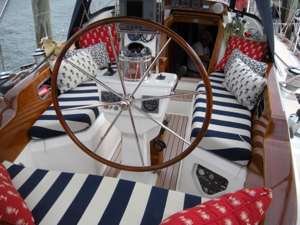 Striped cockpit cushions | sailing anarchy forum