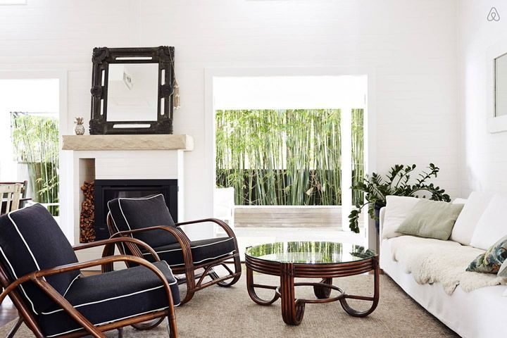 Byron Bay Abodes, love the cane furniture More