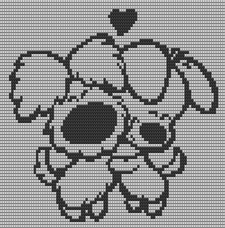 Woezel en Pip te gebruiken voor een Pixel deken haken.