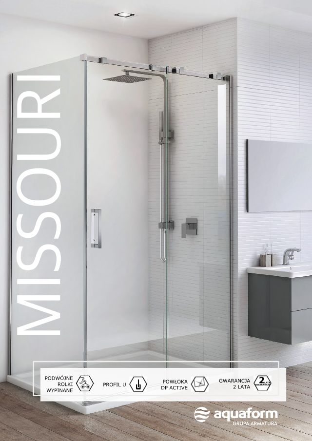 Jeśli dysponujecie łazienką o większym metrażu, oto propozycja dla Was - przestronna kabina Missouri z przesuwnymi drzwiami zapewnia wysoki komfort użytkowania i elegancki, nowoczesny wygląd. Duże tafle przejrzystego, bezpiecznego szkła uzupełnione minimalistycznymi, chromowanymi listwami i prostym uchwytem, prezentują się bardzo stylowo. #Aquaform #Missouri #kabina #komfort #prysznic #łazienka #bathroom #interior #wystrójwnętrz #trendy #design