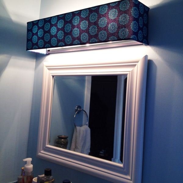 Items similar to NOT A LISTING-Do not use this listing to place your order,  Bathroom Vanity Light Cover, Choose from hundreds of fabrics or provide  your own ... - Cover Ugly Hollywood Lights- Bathroom DIY Home Pinterest