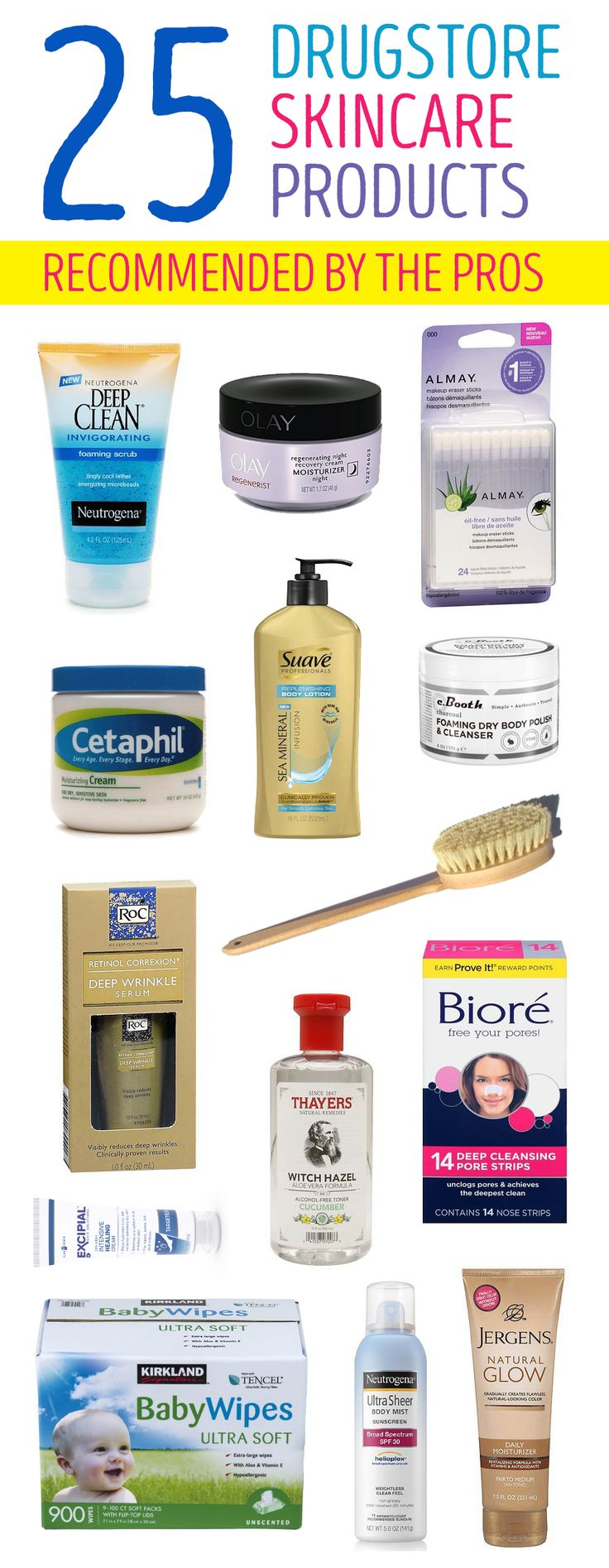 Celebrity skincare experts shared their top drugstore picks. You don't have to spend a lot of money to have great skin and you might already be using of these products in your beauty routine.