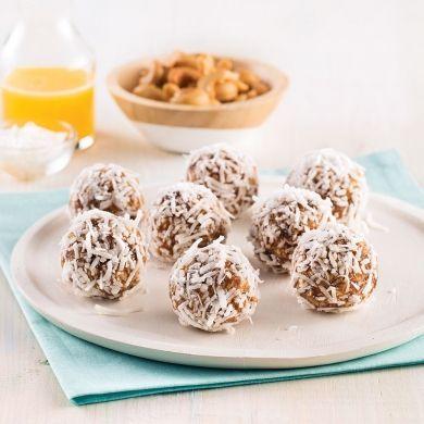 Boules d'énergie aux noix de cajou, dattes et orange - Recettes - Cuisine et nutrition - Pratico Pratiques
