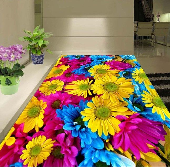 31.13$  Buy now - http://alizga.shopchina.info/go.php?t=32789146408 - 3 d pvc flooring custom wall sticker 3d sunflowers flowers plants 3d bathroom flooring painting photo wallpaper for walls 3d 31.13$ #buyonline