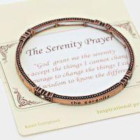 """THE SERENITY PRAYER"" PRAYER'S MESSAGE BANGLE BRACELET, 312362"