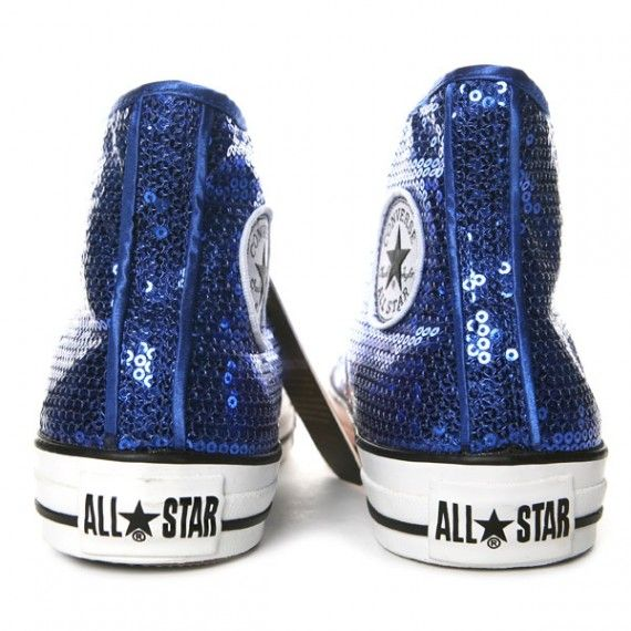 sequinned blue #Converse