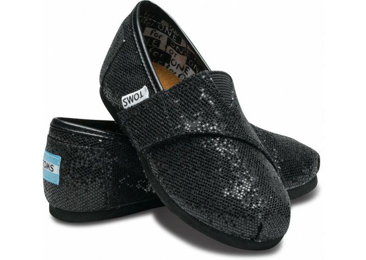 Toms Glitter For Women Black Breathable Outlet