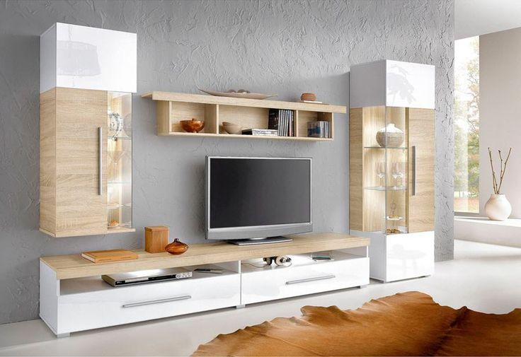 Ensemble mural TV 4 éléments prix promo Meuble TV 3 Suisses 391.50 ...
