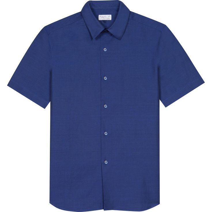chemise thomas bleue en lin la chemise Thomas manches courtes est en lin et coton, et propose une coupe ample.