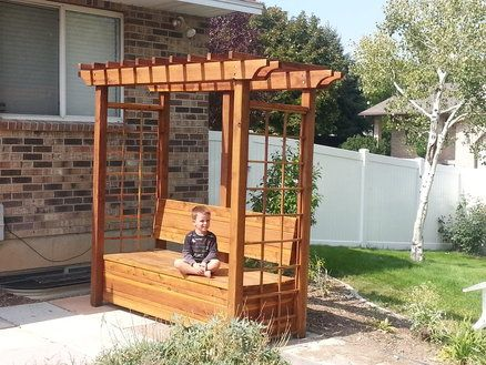 Made this for the backyard. An arbor bench with storage. It was a fun project.