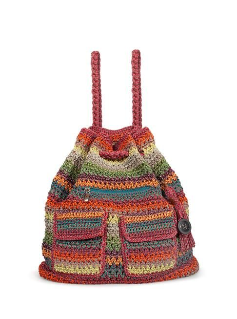 A Sak on every back.  Pack up for the day with our easy to carry crochet backpack. Perfectly stylish for any age.