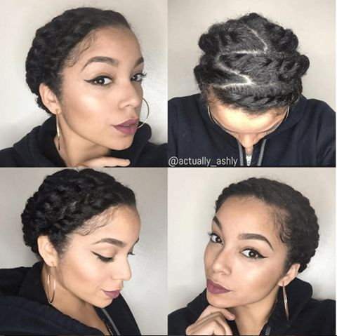 Pretty, Elegant Flat Twist Updo IG:@actually_ashly  ‪#‎naturalhairmag‬