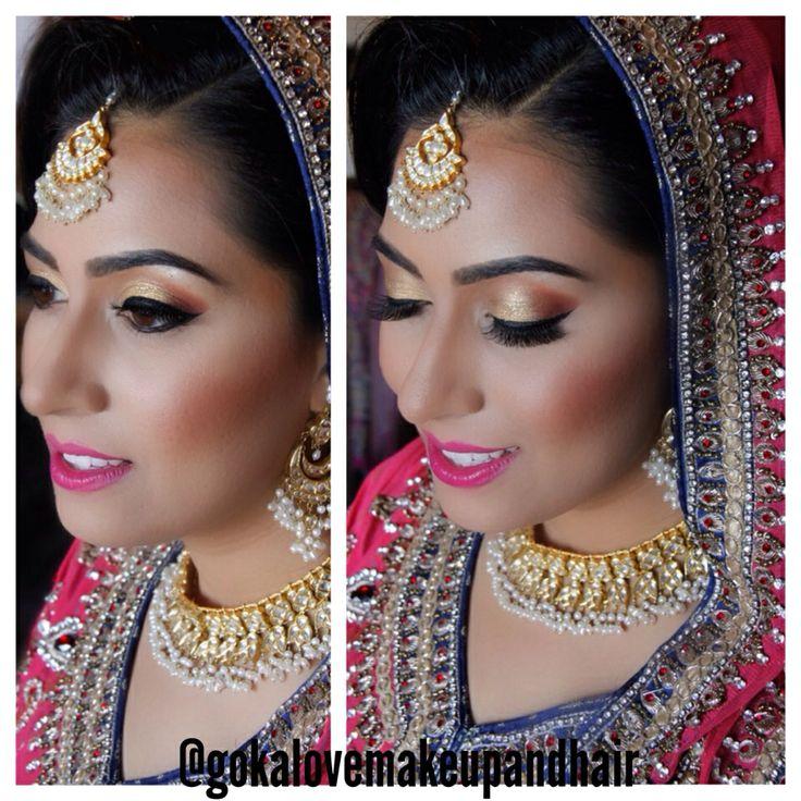 Our beautiful Pakistani Bride!!! :) www.gokalove.com Follow us on Instagram @gokalovemakeupandhair