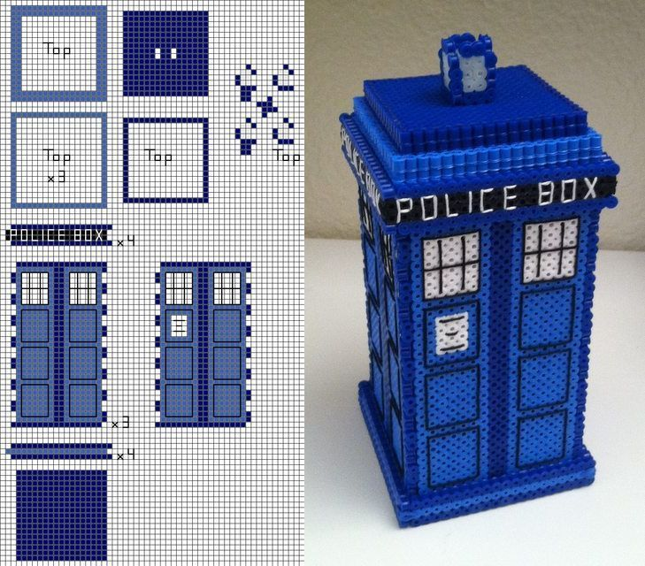 YES. Perler bead Doctor Who TARDIS tutorial