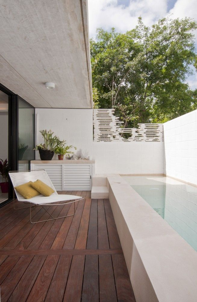 Lap pool terrace. #pool #piscina