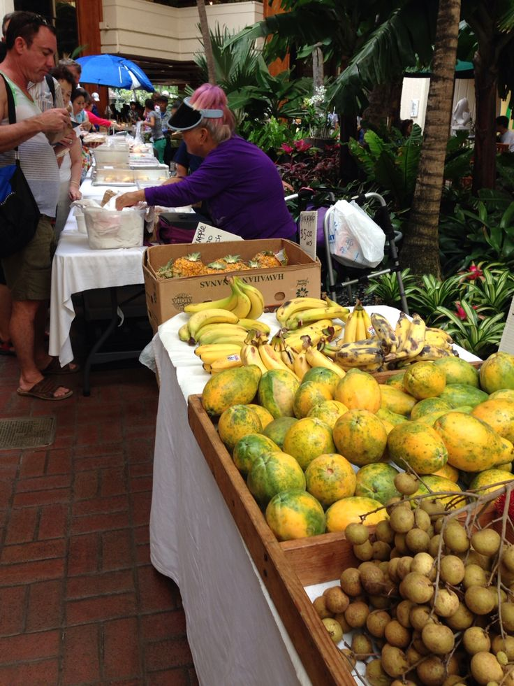 Farmer's market in waikiki hyatt regency
