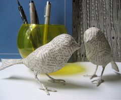 papier mache bird - Google Search