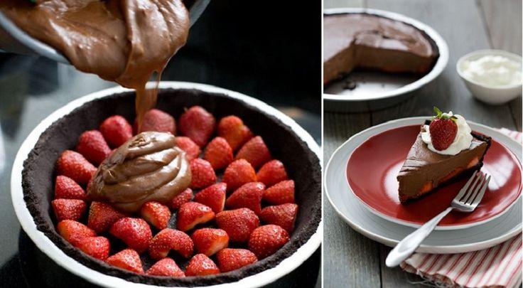 Recette de tarte au chocolat et fraises!