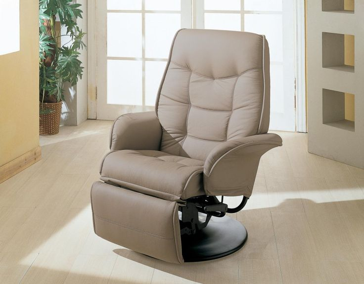 Beige Faux Leather Recliner at GoWFB.ca | True Contemporary : best inexpensive recliners - islam-shia.org