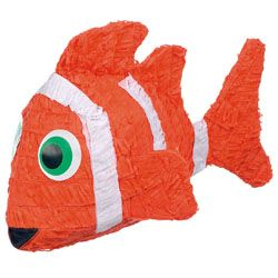 Clown Fish Pinatas, Finding Nemo Pinatas, Finding Nemo Party Supplies