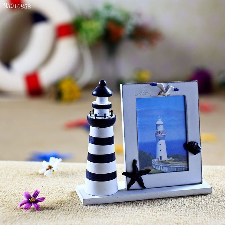 The Handmade solid wood frame children room lighthouse photo frame home decoration accessories home decoration accessories