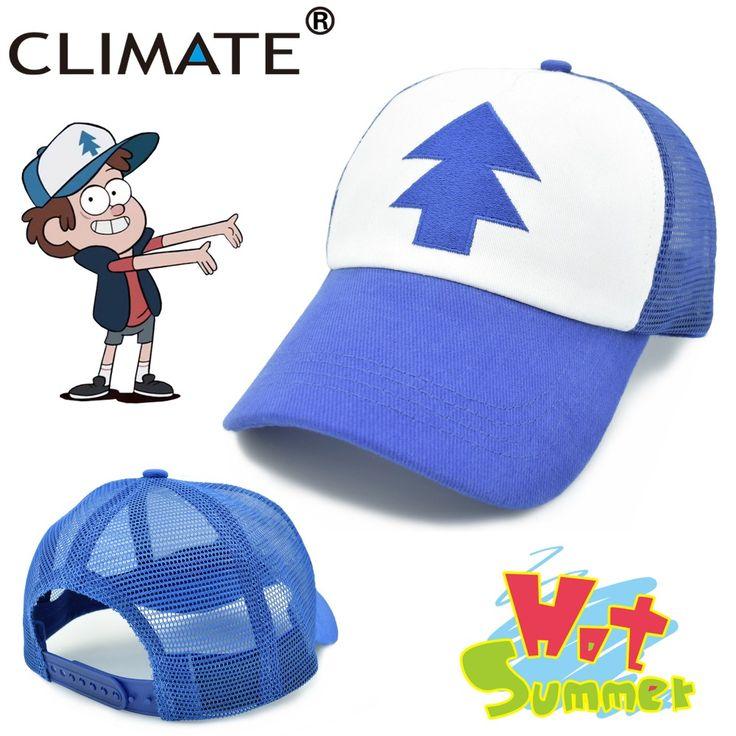Climate 2017 nueva primavera verano niños adultos gravedad cae mabel dipper pinos fresca cosplay malla gorras de béisbol gorras de camionero sombrero