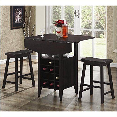 Coaster Home Furnishings Casual Dining Room 3-Piece Set, Espresso