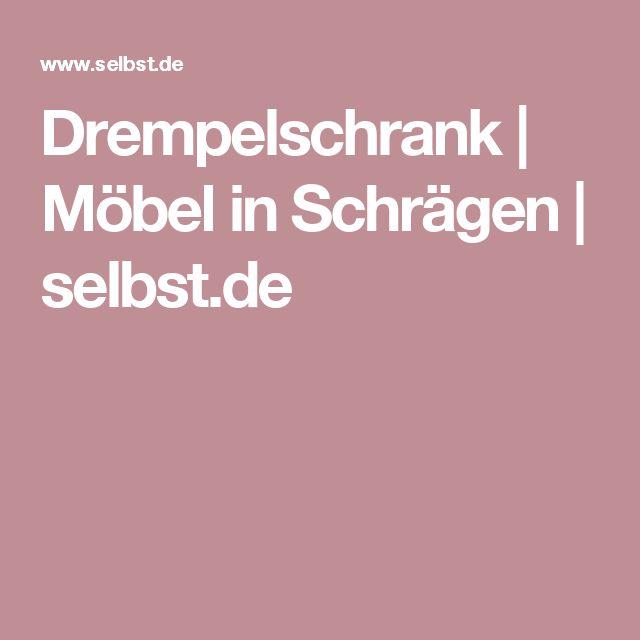 Drempelschrank | Möbel in Schrägen | selbst.de