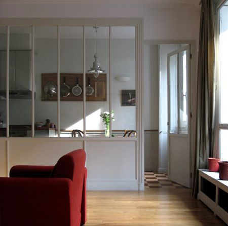 verriere int rieur s paration cuisine salon inspiration s jour cuisine pinterest. Black Bedroom Furniture Sets. Home Design Ideas