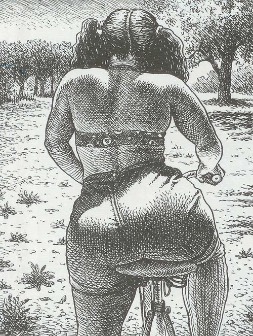 Robert Crumb. Fat botomed girls are riding today, so forget all your worries oh yeah!