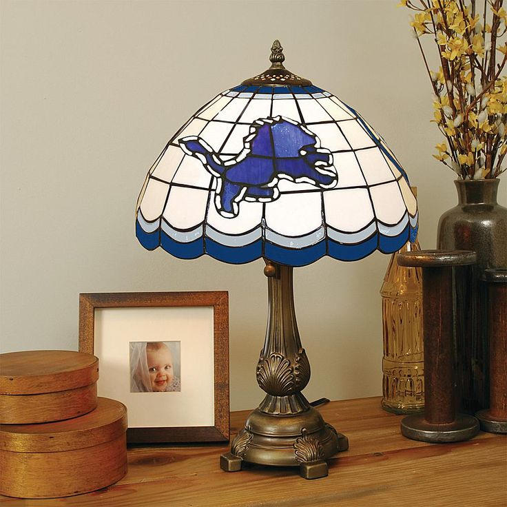 Football Fan Shop Detroit Lions Tiffany Style Table Lamp