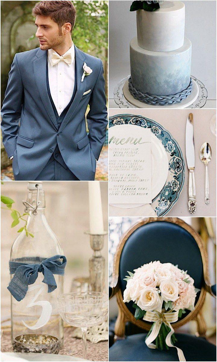 Hadas Cohen Wedding Dresses Styled with Oceanic Blue Ideas - MODwedding