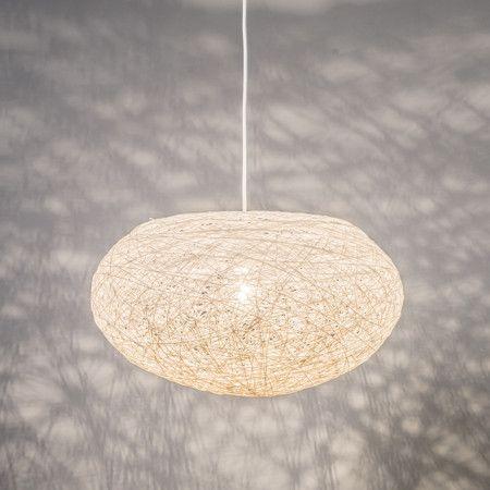 Lampa wisząca Corda Flat 50 biała