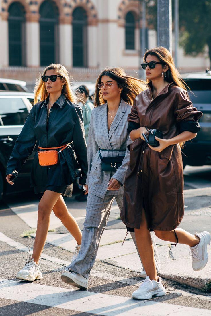 Der Street Style der Mailänder Modewoche ist mit einer ganzen Menge Fendi und Prada gefüllt