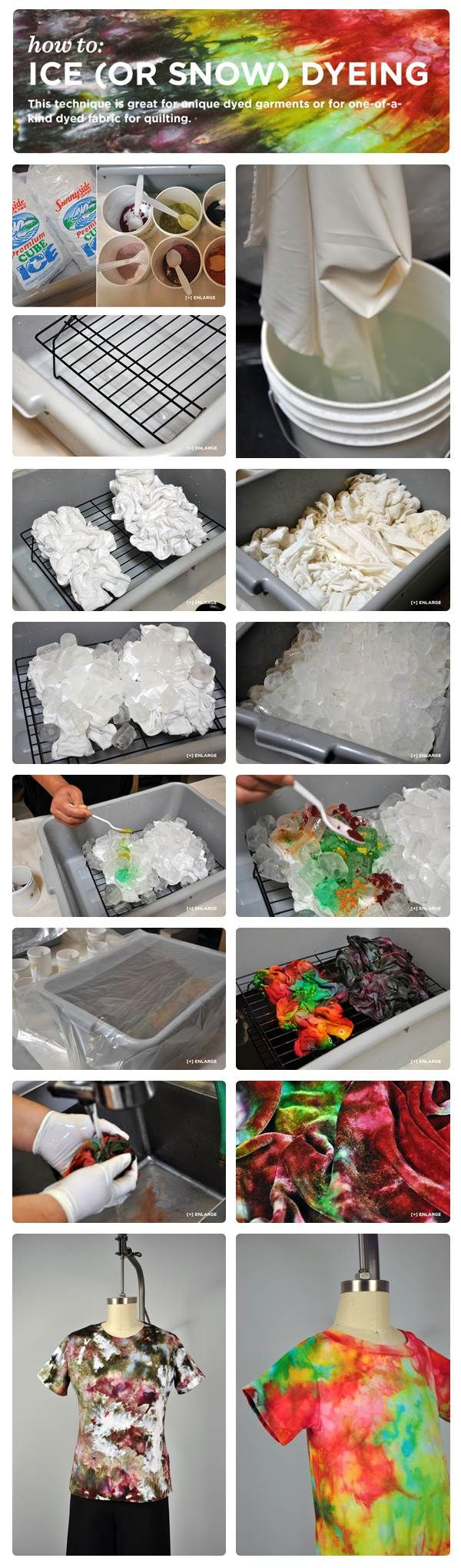 We love this photo strip from our Ice Dyeing Tutorial!
