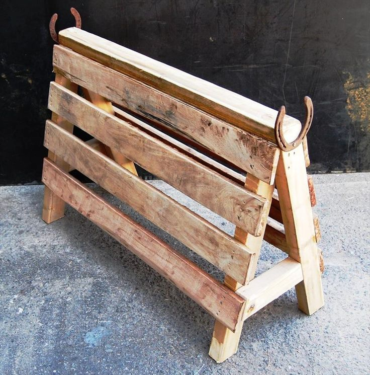 Pallet Saddle Stand | Pallet Furniture                                                                                                                                                     More