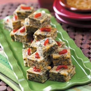 Even people who don't care for spinach can't pass up these satisfying appetizer squares. They're a hit as a deliciously different vegetable side dish as well.