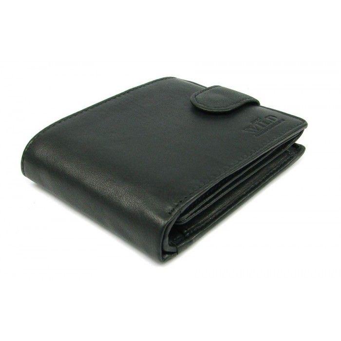Černá peněženka pánská kožená - peněženky AHAL