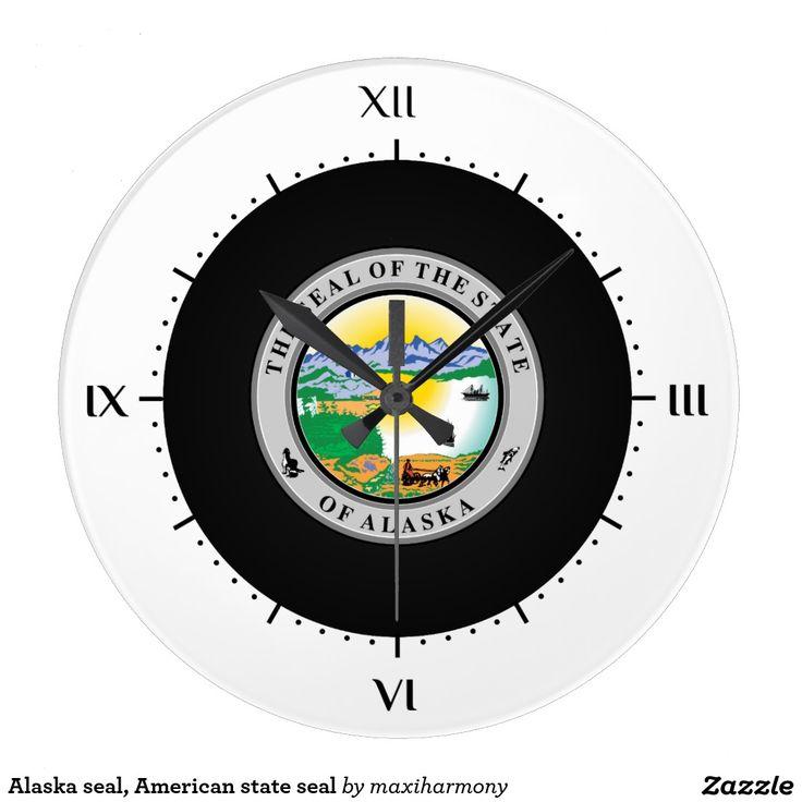Alaska seal, American state seal Wall Clock