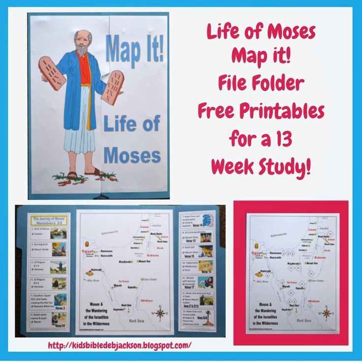 Bible Fun For Kids: Life of Moses: Map It! File Folder