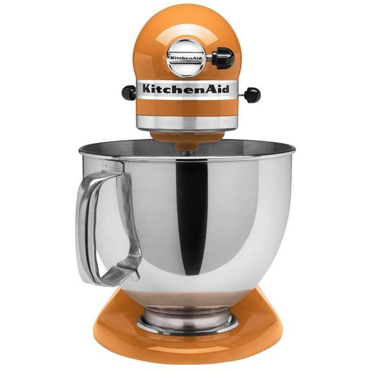 Kitchenaid artisan 5 qt 10speed tangerine stand mixer