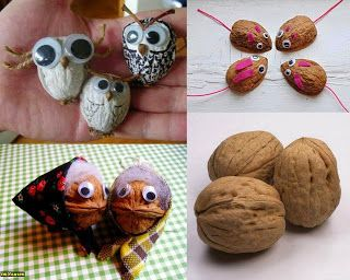 ⁂: Noci animate  #walnut #crafts #owls