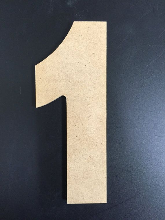 Unfinished Wood Numbers  1/4 MDF  Aharoni font by AmUSABLE on Etsy