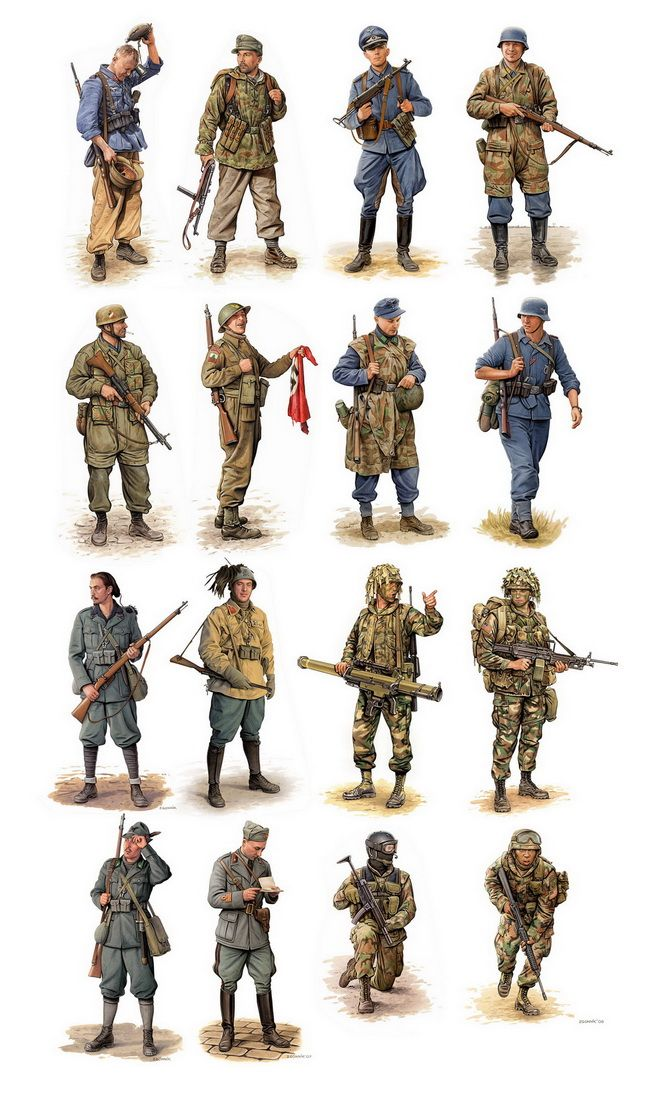 WW2 & modern soldiers