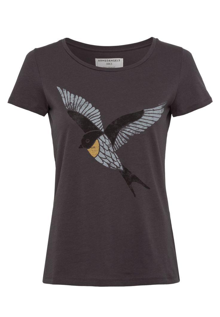 erhältlich in anthrazit - Shirts T-Shirt Print, 100% Baumwolle (bio), Regular fit, GOTS, organic, CERES-008 - nachhaltige Materialien und faire Produktion